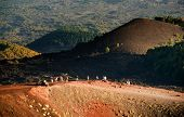 tourists on edge of volcanic Mount Etna