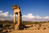 doric temple Of Castor And Pollux in Agrigento