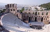 Ancient theatre of Herodes Atticus  is a small building of ancient Greece used for public performanc