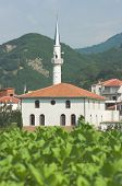 the white mosque of the hamlet Melivoia a pomak village of musulman minority in the Thrace Greece