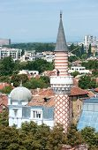 the minaret of Djoumaia mosque in Plovdiv (Bulgaria); this mosque is one of the Balkans oldest