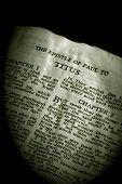 Bíblia série Tito sépia