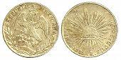 Antiga moeda de mexicanos 8 Reales 1885