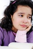stock photo of teenage girl  - school girl crying - JPG