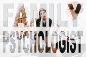 Difficult Teeneger. Conflict Between Mother And Daughter. Mother And Daughter At Psychologist. Mothe poster