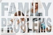 Difficult Teeneger. Family Problem. Conflict Between Mother And Daughter. Mom And A Daughter Are Arg poster
