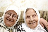 stock photo of elderly woman  - Two elderly woman  - JPG