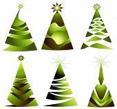 set winter trees