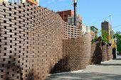 A wall sculpture in Lower Manhattan.
