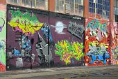 QUEENS - OCTOBER 7: Five Pointz, a world renown outdoor exhibit space featuring the works of numerou