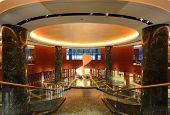 OSAKA, JAPAN - JULY 8: Interior of Hyatt Regency Hotel in Osaka, Japan. Hyatt is an international op