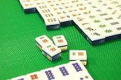 Mahjong spel snippers genummerd