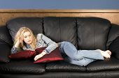 Relaxing On Couch