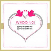 Wedding card with bright color