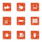 Excellent Icons Set. Grunge Set Of 9 Excellent Icons For Web Isolated On White Background poster