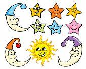 star moon sun