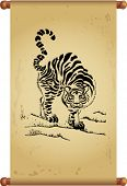 An ancient Chinese scroll - for chinese tiger year