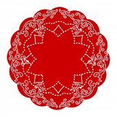chinese  traditional round lace doily