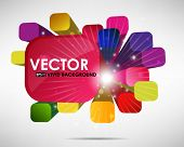 3D abstract colorful background - vector illustration with place for text