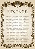 vintage style frame brown paper