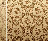 seamless vintage background Pattern brown. Vector illustration