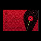 Glamour fashion invitation card flower. Vector illustration