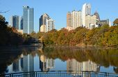 atlanta skyline at piedmont park