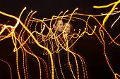 Black Background, Couple Dancing, Kissing In The Lights Of Light, Dance Of Light, Music Of Light, Ho poster