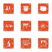 Chemical Substance Icons Set. Grunge Set Of 9 Chemical Substance Icons For Web Isolated On White Bac poster