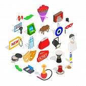 Western Culture Icons Set. Isometric Set Of 25 Western Culture Vector Icons For Web Isolated On Whit poster