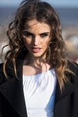Pretty Girl With Fashionable Hair. Beauty And Fashion Look. Autumn Fashion Of Sexy Woman. Fashion Wo poster