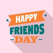 Happy Friendship Day Logo. Flat Illustration Of Happy Friendship Day Vector Logo For Web Design poster