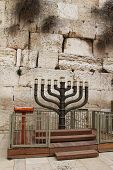 Menorah at the Western Wall