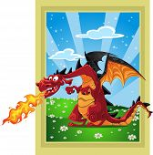 Dragon On The Fairytale Landscape