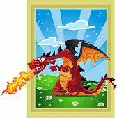 Dragon On The Fairytale Landscape