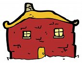 tumbledown old house cartoon