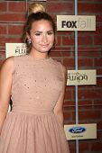 LOS ANGELES - SEP 10:  Demi Lovato arrives at the FOX Eco-Casino Party 2012 at Bookbindery on Septem