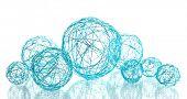 beautiful decorative balls, isolated on white