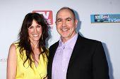 LOS ANGELES - JUN 2:  Rachel Winter, Terence Winter arrives at the WGA's 101 Best Written Series Ann