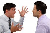 Businessmen quarreling