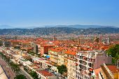 Panorama Of French Riviera In City Of Nice