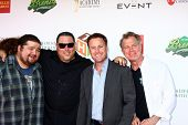 LOS ANGELES - JUN 8:  Jorge Garcia, Greg Grunberg, Chris Harrison, Stephen Collins at the 2nd Annual