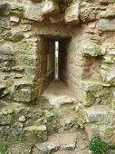 Arrow Slit In A Castle Wall