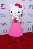 LOS ANGELES - JUN 8:  Hello Kitty charachter arrives at the 1st Annual Children Mending Hearts Style