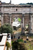 Marble Arch Of Septimius Severus On Capitoline Hill