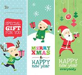 Christmas greeting card, gift tag and templates design