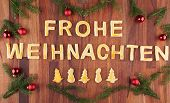 Frohe Weihnachten With Decorations