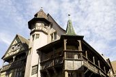 The Top Of Famous Renaissance House In Colmar, France