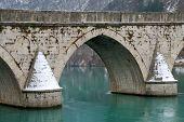 Detail Of Bridge On Drina
