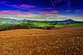 stock photo of apennines  - Sunset over the Slopes of the Apennines Italy - JPG